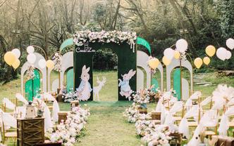 【QueenMarry】 彼得兔户外草坪婚礼布置