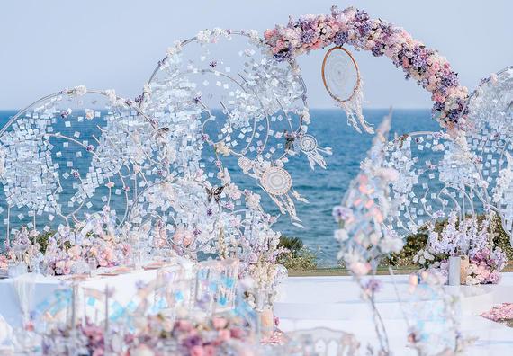 海邊草坪婚禮   夢幻色彩之捕夢網