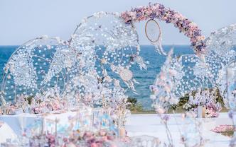 海邊草坪婚禮 | 夢幻色彩之捕夢網