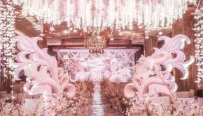 飞凌婚礼丨直击少女心的pink婚礼