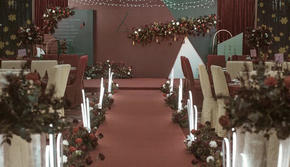 与你   红色复古气质撞色婚礼+专业灯光
