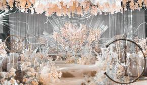 ALAN2020热搜款香槟色唯美大气婚礼