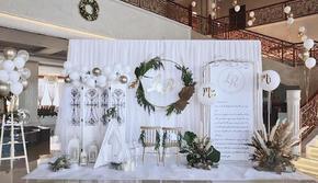 TIMESWED |北欧白绿气球小清新婚礼
