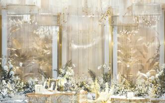 花千树    唯美白色法式浪漫婚礼 花艺设计满分