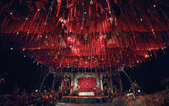 【卡农】唯美大气大红色含四大金刚主题婚礼