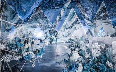 【一禧婚礼策划】蓝色 几何 极简风 婚礼