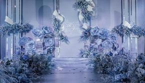 【遇见】蓝色系主题婚礼 含四大金刚 含婚纱礼服