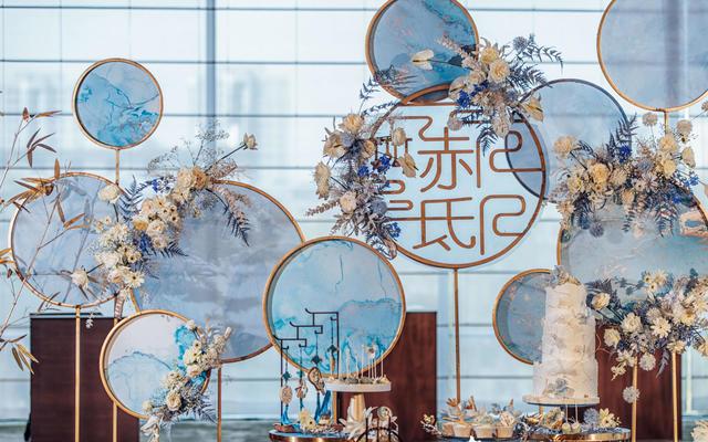 【隐山】澄净水蓝色新中式古风婚礼