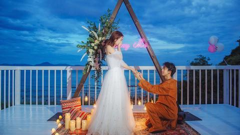 三亚海边浪漫告白求婚求爱布置/【白色恋人】