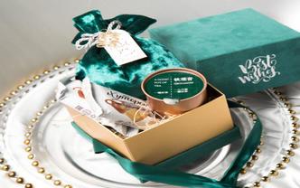 绿色丝绒玉玺盒方形丝绒盒