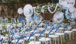 【忆拾光】蓝绿撞色小预算户外定制婚礼 全款甜品台