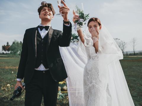 青春纪实校园风婚纱照,幸福的事