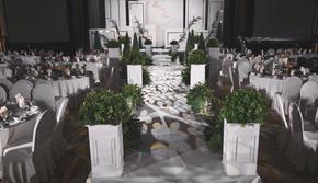 清风  白色简约小预算婚礼+赠送签到布置