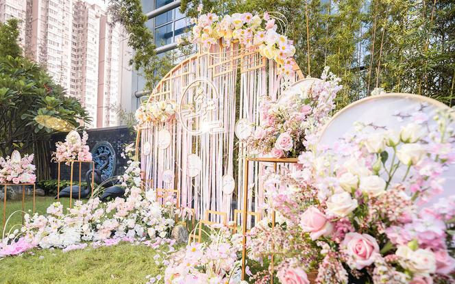 【蜜思婚礼·原创案例】-户外新中式草坪婚礼