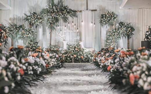 【纯壹婚礼】室内小清新婚礼/白绿色婚礼