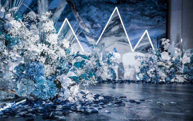 【尚喜宝】蓝色海洋风/几何元素婚礼/一价全包