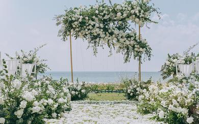 三亚蔷薇婚礼 —【秋·白】