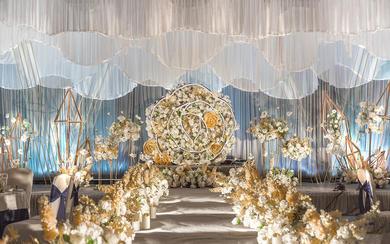 香槟黄主题婚礼|时光婚礼