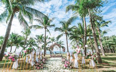 三亚爱薇汀草坪婚礼婚庆之纯粹的爱