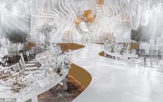 伯妮婚礼 | 极简设计感浪漫白色婚礼 星座元素