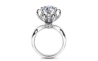 梵誓-许愿喷泉绽放版一克拉定制求婚结婚订婚钻戒