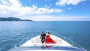 【大连旅拍】豪华游艇+包蜜月酒店 + 圣托里尼