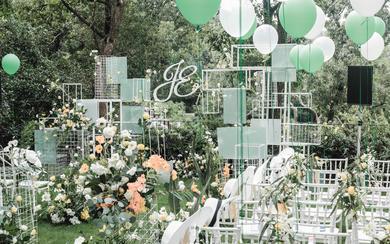 现代感框架构建风婚礼 户外婚礼 草坪婚礼 小清新