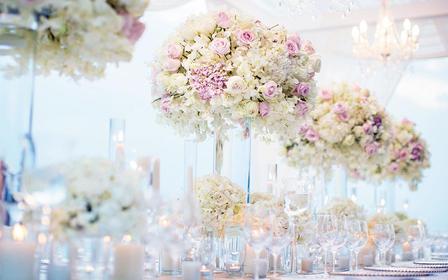 多种风格元素的清新奢华婚礼