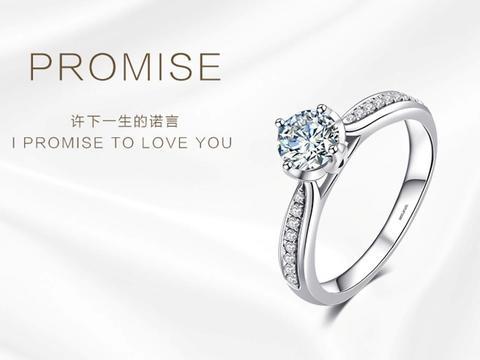 钻小娴-PROMISE-18K金铂金订婚求婚钻戒