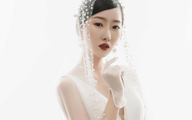 纯色婚纱照 简约 大气