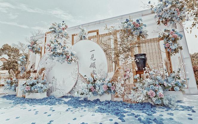 【壹.美物婚礼】-自家小院.淡蓝色户外新中式