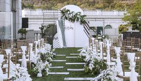 【译心婚礼】东郊国宾馆 白绿色系 ins风轻法式