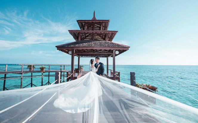 喜宝婚纱旅拍仙本那3天2晚马步岛海边外景拍摄