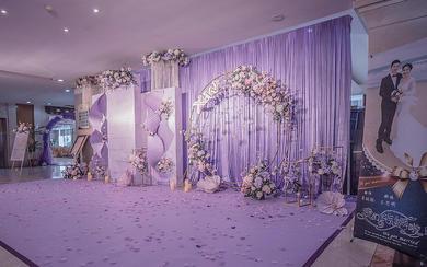 时尚新式折纸花艺韩式唯美梦幻紫色婚礼