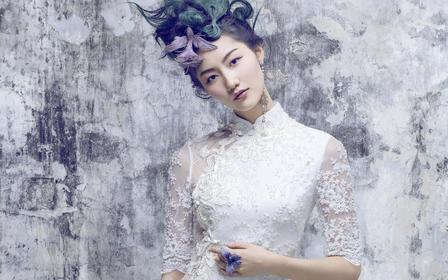 『晴雪』茧迹新中式改良旗袍