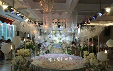 小清新风格的婚礼因为有了气球的点缀,更显得有灵气