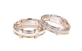 蒂迦结婚对戒丨情侣时尚款
