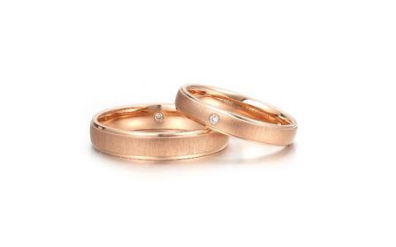 人气爆款 18K玫瑰金结婚求婚钻石对戒「遇见」