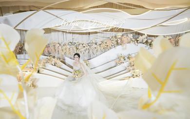初岛作品 轻奢白黄清新婚礼创始人双机