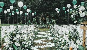 【华谊婚礼】白绿色户外婚礼