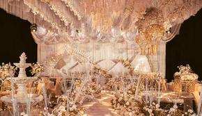 【香槟色现代艺术婚礼】内含司仪+摄影+摄像+化妆