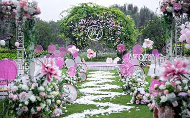 反射光婚礼---绿紫色户外清新婚礼