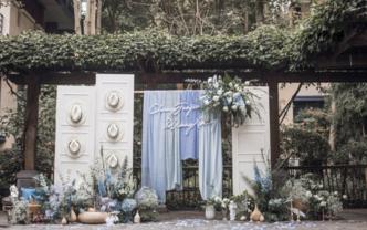 「栗慕」户外限定,蓝色扎染搭起的婚礼梦
