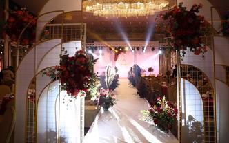 【禾朵私人婚礼定制】--红白色系大气婚礼布置