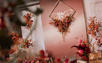 【喜尔婚礼】创意设计 | 勃艮第红高质感婚礼