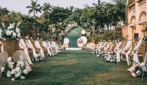 【梵锦婚礼】&清新薄荷绿户外创意婚礼含四大