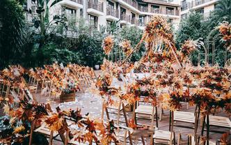 【潮婚节】只要8888户外婚礼布置(绿植+椅子)
