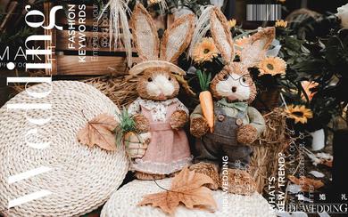 《彼得兔的后花园》——户外法式田园吻戏文艺风婚礼