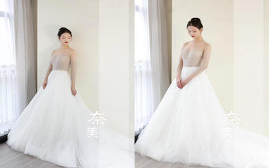 全手工珠绣技术轻奢系列婚纱