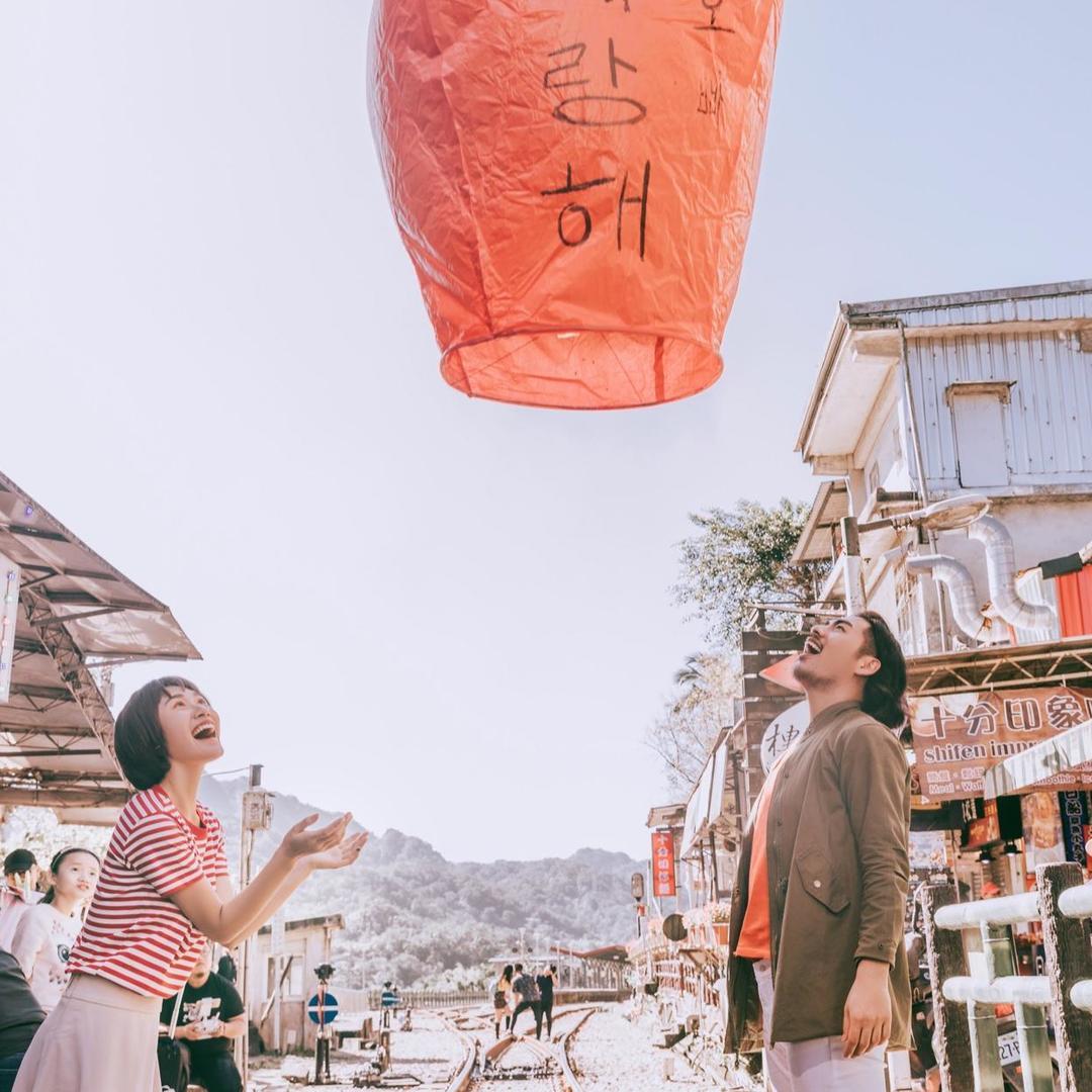 【台湾旅拍】十分天灯│九份山城 灯影里的浪漫情怀